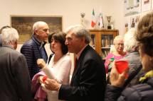Al brindisi la prof.ssa Maria Pia Blasi accompagnata da Enrico Luciani: sulla sinistra Domenico Ruggeri