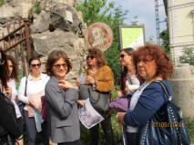 Da destra: la prof. Paola Risoldi, Mariapaola Pietracci MIrabelli, Daniela Donghia e la prof. Daniela La Macchia