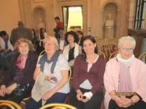 Cecilia Di Bartolomeo, Marisa Pietracci, Mariapaola Pietracci Mirabelli, Ivana Colletta, alle loro spalle la dr.ssa Maria Pia Critelli