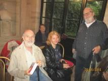 Mario Savelli, ed Elena con Antonio Cardellini: alle loro spalle l'infaticabile Egle Pasquali