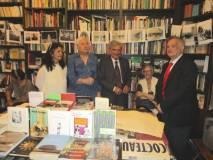 Da sinistra: Catia Gabrielli, Vittorio Emiliani, Enrico Luciani e Giovanni Cipriani; tra loro, seduta la Consigliera Comunale Gemma Guerrini