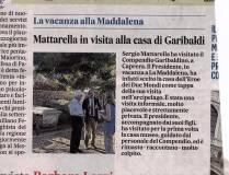 13- icona-Messaggero 18.8.18 -Il Presidente Mattarella a Caprera
