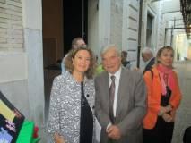 Prima di salutarsi, Enrico Luciani e l'Assessore Laura Baldassarre concordano sulla opportunità di una passeggiata al Gianicolo in occasione delle Visite Guidate. A presto!