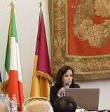 L'ing. Maria Elena D'Effremo svolge la sua relazione