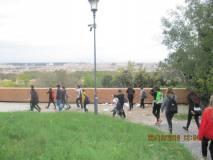 Magnifico il panorama di Roma visto dal Belvedere; tentiamo di leggere il testo della Costituzione romana del 1849