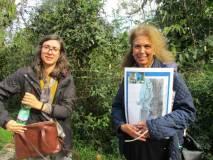 La prof.ssa Francesca Assennato con la nostra guida Noemi Grimaldi