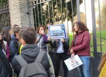 Il racconto dell'attacco a tenaglia dei francesi , sulla destra la prof.ssa Rossella Comito