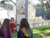 Il pannello al Mausoleo Ossario