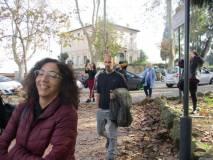 La prof.ssa Rossella Comito tra i primi ad arrivare al Monumento di Anita