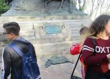 Qui riposano i resti mortali di Anita. Questo infatti è un monumento/tomba