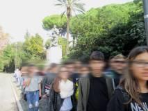 I ragazzi fanno in tempo a vedere anche il monumento di Ciceruacchio