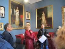 Enrico Schiavulli ricorda le donne di Napoleone: a sinistra la madre Laetitia Ramolino, a destra l'imperatrice Giuseppina