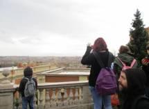Dal fontanone il panorama di Roma