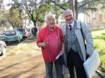 Domenico Memmo in foto con Enrico Luciani di cui è grande estimatore