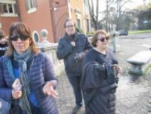 Le prof.sse Elisabetta Puce, Claudia Sotgiu e l'assistente Sara Marocchi apprezzano il panorama di Roma