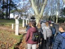Si entra al Parco del Gianicolo e si guardano i primi busti della passeggiata