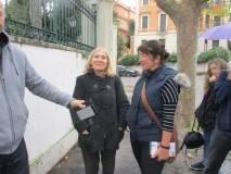 La prof.ssa Pierfranca Di Battista con la signora australiana, anch'essa insegnante