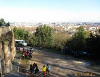 Si scende alla piazzola e ancora si può godere il panorama di Roma