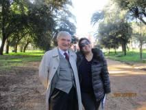 Enrico Luciani con la prof.ssa Splendore Ciampagna per la III B