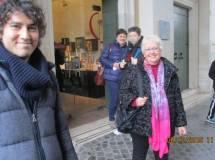 Cambio turno al Museo: Alessandro Sgroi, Ivana Colletta e alle spalle la prof. Concetta Cogliandro
