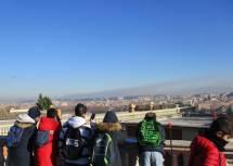 La vista su Roma davanti al Fontanone