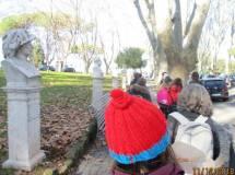Si cammina tra i busti del Parco, nell'immagine il busto di Pagliari, caduto a Porta Pia
