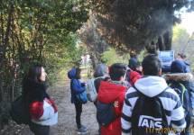 Un giovane alunno spiega l'attacco dei francesi verso l'ottavo bastione