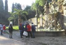 La fontana dei fauni a Villa Sciarra