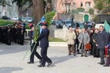 La corona ai CADUTI della città metropolitana e della Regione Lazio