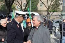 Enrico Luciani saluta Andrea Monaldi, il Maestro della Banda Musicale del Corpo di Polizia Locale di Roma Capitale