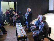 L'intervento di Vittorio Emiliani, giornalista e scrittore. Il pubblico ormai è sulle scale