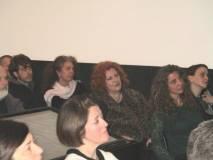 La prof. Maria Pia Blasi e sullo sfondo: Mara Minasi accanto a Manuela Franci e Noemi Cavicchia Grimaldi con Andrea Grimaldi