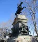 Una visita anche al monumento/tomba di Anita, prima di lasciare il Gianicolo.