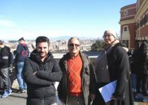 Massimo Capoccetti tra i proff. Gianmaria Bellu e Vanessa Piccari