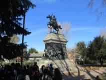 La visita al monumento /tomba di Anita Garibaldi