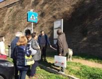 Dal pannello delle brecce si vede chiaramente l'abbattimento delle mura operato dai francesi