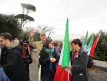 Tra i partecipanti anche il garibaldino Fulvio Crocenzi che ci saluta affettuosamente
