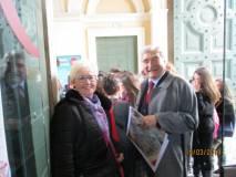 Ivana Colletta ed Enrico Luciani sono già al Museo, pronti a ricevere i gruppi classe