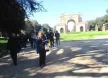 Noemi Grimaldi con la IVa di ritorno dalla ricognizione dell'Arco dei Quattro Venti
