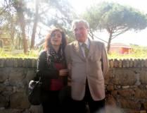 La prof.ssa Rosita Polessi con Enrico Luciani sul sesto bastione