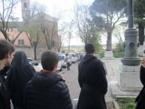 La <i>batteria del pino</i> e la Chiesa di san Pietro in Montorio