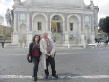 Al Fontanone la prof.ssa Rosita Polessi ed Enrico Luciani