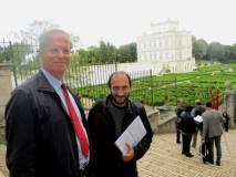 Raffaello Sestini si congratula con Roberto Calabria