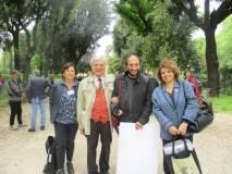 Giovanna De Luca, Enrico Luciani, Roberto Calabria (festeggiato), Daniela Donghia