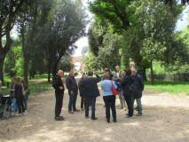 Massimo Capoccetti, per i richiedenti, prosegue la visita nel racconto dei combattimenti del 3 giugno 1849 (bravo!)
