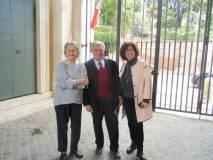 La prof.ssa Annita Jallet Garibaldi saluta con simpatia Enrico Luciani e la prof.ssa Marina Formica