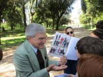 Enrico Luciani spiega l'Esercito della Repubblica romana del 1849 e mostra la nostra pubblicazione
