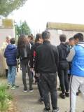 La classe entra nel Parco di Villa Pamphili, quasi allo stesso punto dove  entrarono i francesi...