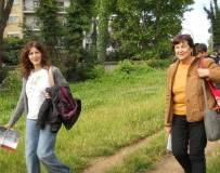 La prof. Arianna Capuzzo e la nostra dr.ssa Giovanna De Luca scendono a valle