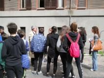 L'arrivo alla sede del Circolo Amilcare Cipriani e Comitato Gianicolo